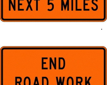 MINIATURE  CONSTRUCTION ZONE Traffic Sign     Free Shipping