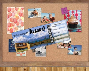 Ticket to Alaska...Boarding Pass...Gift, Surprise show them you care.
