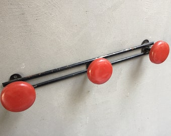 Vintage metal coat hook coat rack, 60's