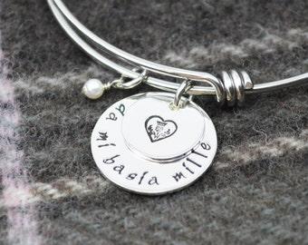 Da Mi Basia Mille Adjustable Bangle Bracelet - Scottish Stacking Bangle - Celtic Jewelry