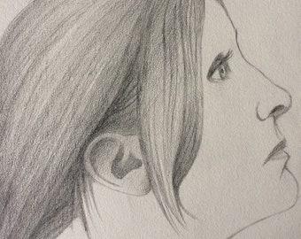 Kim, pencil study