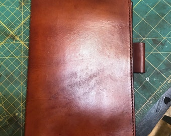 Hand finished and stained leather FFP cover