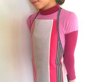 Apron, school apron, apron, waterproof apron, apron artist, painter apron, laminated apron, stripe