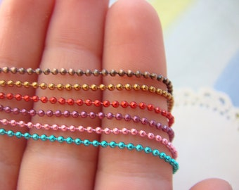 1.5 mm Ball Chain Add On - Coffee, Copper, Red, Purple, Pink, Aqua