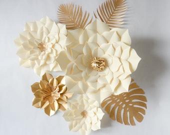 Paper Flowers Ivory Set