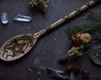 Witches Spoon ~ Pentagram ~ Cooking Spoon for the cauldron