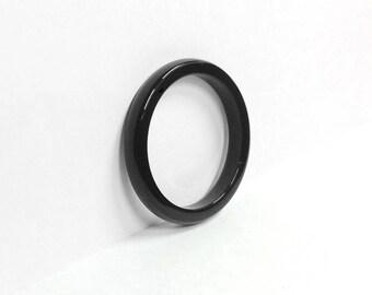 Onyx Ring, Gemstone ring, black ring