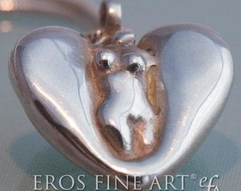 Erotischer Herzanhänger Ladyheart - erotischer Silberanhänger, Erotikanhänger, Torsoanhänger, Geschenk, Erotikschmuck, Weiblichkeit, Liebe