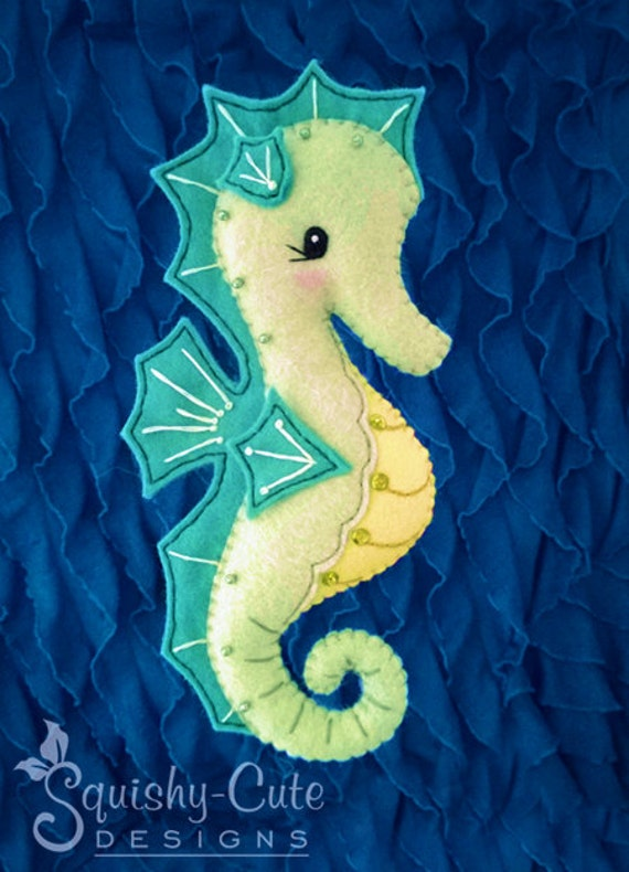 Seahorse Sewing Pattern Pdf Ocean Stuffed Animal Felt