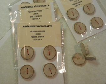 Birch wood buttons