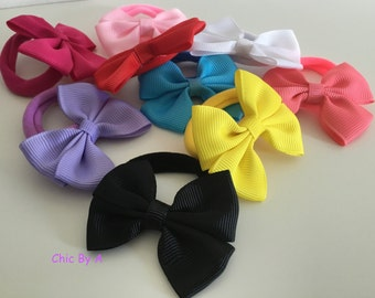 Blue, Pink, Yellow,White,Purple,Red,Black,Hair Tie,Set of 5, Hair accessories, Cute, Elastic,Hair,Bands Lovely,Baby Girls Hair Accessories