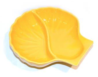 Appolia Yellow Shell Serving Dish, Yellow Kitchen by BigMuddyVintageShop