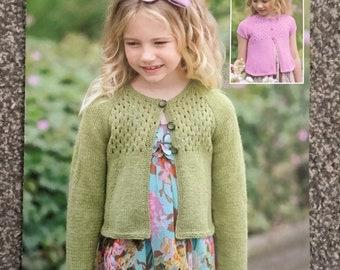 "Sirdar DK Knitting pattern 2345 girls cardigan size 22""-32"" chest (E01)"