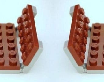2 Reddish Brown Park Benches for  Minifigures - Made From LEGO Parts