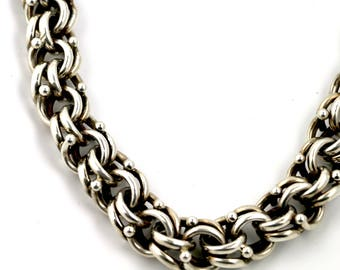 Vintage 1970's Vintage Mexican Silver Chain Necklace