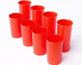 Small Orange Tupperware Cups