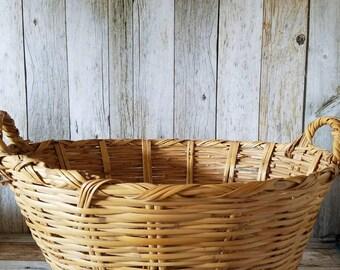 1940 LAUNDRY BASKET Large Laundry Basket Vintage Laundry Basket