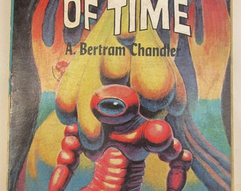 Vintage 1960s Pulp Science Fiction Paperback - Into the Alternative Universe/ The Coils of Time - Ace Double Novel Books