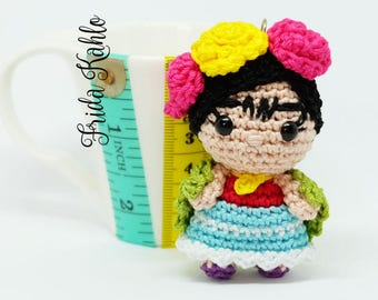 Amigurumis Frida Kahlo : Frida kahlo amigurumi earrings crochet doll