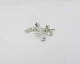 Sterling Silver Staple Stud Earrings, Silver Bar Studs, Silver Bar Earrings, Silver Staple Studs, Silver Bar Stud Earrings