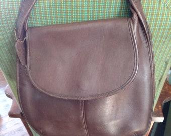 Near Vtg Coach Shoulder Bag 9029,Large Coach Chocolate Crescent Shoulder Bag,Vtg Flap Brown Coach Shoulder Bag, 1990's Coach Shoulder Bag