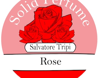 ROSE Handmade Solid Perfume Organic 10gm Round Container by Salvatore Tripi - Italian Recipe