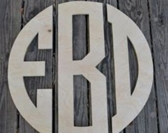 Wooden Monogram Wall Hanging Letters, Nursery Decor, Wooden Letters, Circular Monogram, Wedding Monogram, Monogram Wall Decor any size
