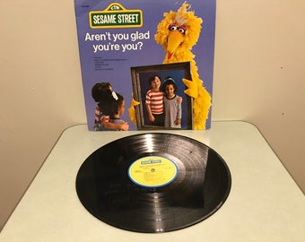 Sesame Street Aren't you glad you're you LP 1977