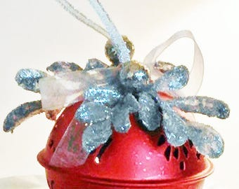 Silver Decorated Red Bell