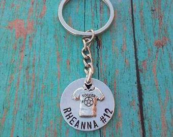 Personalized Soccer Keychain - Soccer Keychain - Keychain - Soccer Player Gift - Soccer - Gift for Soccer Player