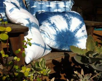 Hand Dyed Shibori Indigo Cushions