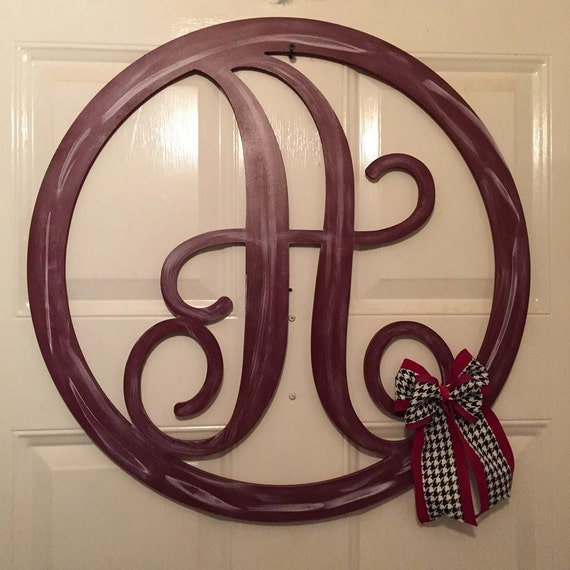 Monogram Front Door Decoration: Monogram Door Decor Monogram Door Hanger Door Hanger
