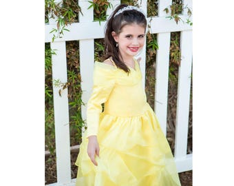 Beautiful Belle Princess Dress in a Gorgeous & Comfortable Long Sleeve   Toddler   Youth