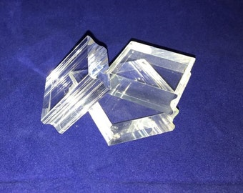 """Acrylic Stamping Blocks 1 1/4"""" x 1 1/4"""" Pack of 3"""