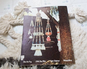Macrame Book Tutorial DIY Magazine Macrame Workbook Macrame Magazine A Sip of Macrame Brandy Learn Macrame Vintage Macrame Textile Art