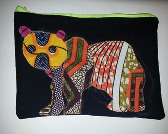 Bag 20x30cm wax patchwork bear
