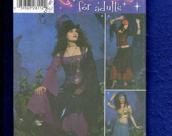 Simplicity 4484 Gypsy Steampunk & Belly Dancer Costume Pattern Size 6 to 12 UNCUT
