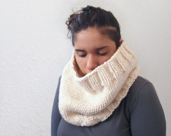 hand knit chunky cowl -- the condyle neckwarmer in fisherman