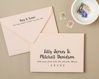 Wedding Envelope Etsy - Wedding invitation envelope address template