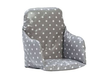 High Chair Cushion Insert - Super snug, supportive and wipe clean.  Wooden high chair pad. Fits East Coast high chairs.
