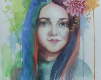 Custom Watercolor Portrait Оrder Рortrait From Photo
