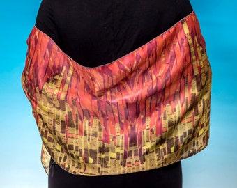 Sunrise Sunset abstract digitally printed silk scarf