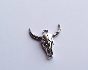 Charm Jewelry Silver Buffalo Bull Head charm
