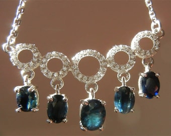 Necklace Sapphire loose gemstone