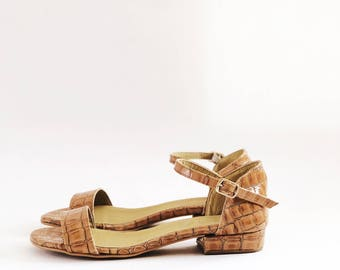 Misha Faux Leather Flat Sandals (Handmade to Order)