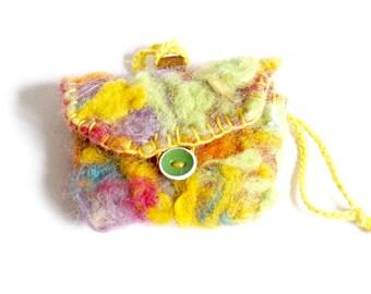 Small handmade felt gift-bag