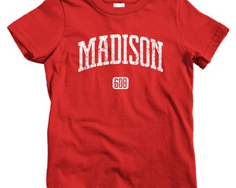 Kids Madison 608 T-shirt - Baby, Toddler, and Youth Sizes - Madison Wisconsin Tee - 4 Colors