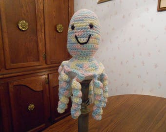 New HANDMADE Crocheted Pastel Colored Octopus