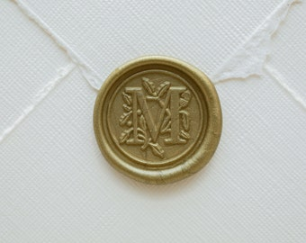 M Letter Wax Seal | Initial Wax Seal Stamp