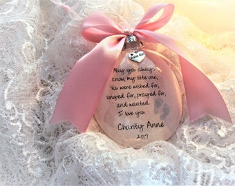 Baby Memorial Miscarriage Ornament, May You Always Know, My Little One,